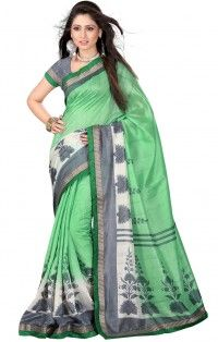 Buy Green Color Sarees USA Online Shopping
