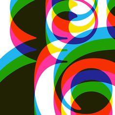 Typography poster print Retro graphic design font mid century modern kitchen art office - Ampersand