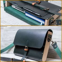 leather/wood briefcase