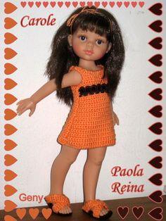 Bonjour mes Amis...encore merci pour vos témoignages de sympathie... Ma belle Carol de Paola Reina vient vous présenter l'une de mes dernières créations...elle fait partie d'une série de petites robes sympas que je crées pour fêter les beaux jours...vous...