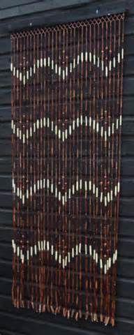 Brown U0026 Natural Wooden U0026 Bamboo Beaded / Bead Door Curtain ...