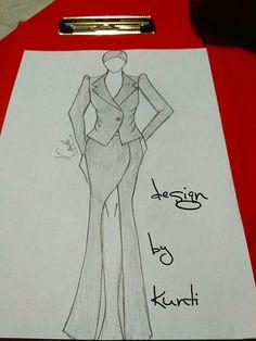 Fashion Illustration Sketches, Fashion Design Sketches, Illustrations, Vs Fashion Shows, Dress Sketches, Pencil Art, Art Drawings, Blazer, Skirt