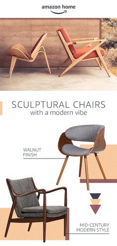 Create a focal point and a modern vibe in any space with sculptural accent chairs. The clean lines and desert-inspired hues will fit effortlessly into your home. Discover Desert Modern style from Amazon Home