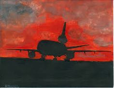 Airplane Silhouette, Sunset Silhouette, Silhouette Painting, Airplane Painting, Paintings, Inspiration, Image, Free, Biblical Inspiration