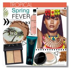 """Tropical Spring Fever"" by chocolate-addicted-angel ❤ liked on Polyvore featuring beauty, Pier 1 Imports, Urban Decay, NARS Cosmetics, Marc Jacobs, Oribe and Bobbi Brown Cosmetics"