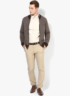 6927542984dfd Buy Louis Philippe Brown Solid Sweat Jacket Online - 3773081 - Jabong
