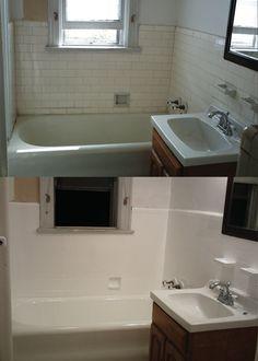 Rental Bathroom Before After Makeover With Dark Wall Paint - Rental bathroom remodel