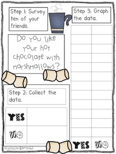 Hot chocolate graphing maybe even add problem solving with marshmallows