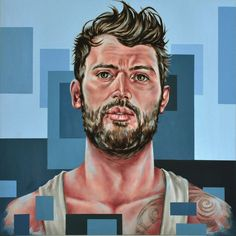 """""""Escaping The Prism"""" by Joe Mulligan. Oil painting on Canvas, Subject: People and portraits, Urban and Pop style, One of a kind artwork, Signed on the front, This artwork is sold unframed, Size: 100 x 100 x 4 cm (unframed), 39.37 x 39.37 x 1.57 in (unframed), Materials: Oil"""