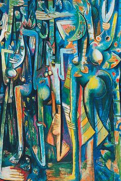 © SDO Wifredo LAM-DR, ADAGP Wifredo Lam: La Jungla, 1943, (détail), The Museum of Modern Art, New York, 2015. Digital Image, The Museum of Modern Art, New York/Scala, Florence