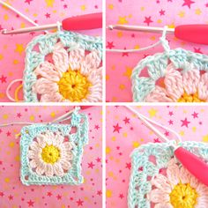 A lot of you asked me for the tutorial on the Daisy Travel Blanket Square (Flower Square VI), so here it is! Have fun with it!!     I...