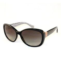 Take a look at this Black Orange Band Sunglasses by Coach Sunglasses & Opticals on #zulily today!