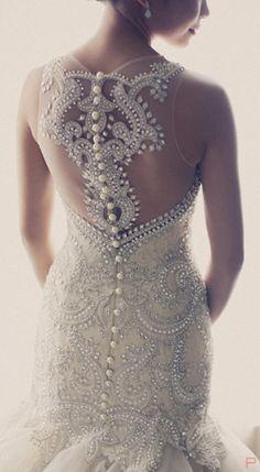 Veluz Reyes Bridal Gown Back Detail