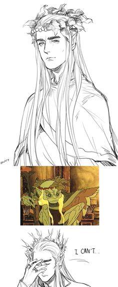 Thranduil the Elvenking of Mirkwood.  http://kanapy.tumblr.com/post/46406278416/thranduil-the-elvenking-of-mirkwood