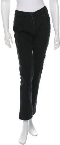 RtA Denim Distressed Mid-Rise Jeans Black Jeans, Legs, Zip, Denim, Stylish, Pants, Women, Fashion, Trouser Pants