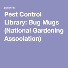 Pest Control Library: Bug Mugs (National Gardening Association)