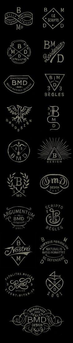 BMD Design logos / Watercolor ( the last logo) Typography Letters, Typography Logo, Graphic Design Typography, Art Logo, Design Logos, Branding Design, Web Design, Tolle Logos, Logo Luxury