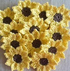 Zonnebloemen madeliefjes kleine Appliques decoratie voor