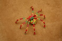 Beaded Christmas Spiders by Holly Greene