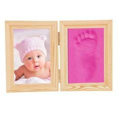 Baby Handprint Footprint Wooden Frame