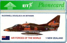 BT Phonecard featuring RNZAF A4K Skyhawk