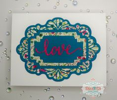 Tropical vibes card made with #CraftDiesbySueWilson and some pretty patterned paper. Love using Sue Wilson dies; there are SO many design options! the love sentiment is from Impression Obsession 😍