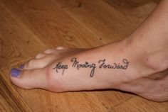 keep moving forward. [perfect running tattoo]