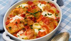 Camadas de filé de peixe temperado com MAGGI Meu Segredo, alho, cebola e…
