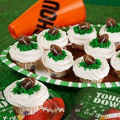 Make the play for dessert! Click the image for our super-easy football cupcakes recipe!