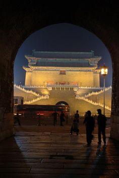 * Floodlit Gate On Tiananmen Square - Beijing, China