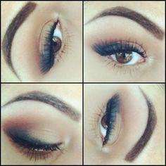 soft easy smokey eye. Burnt browns for blending #makeup '