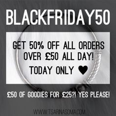 Ok here we go! Black Friday is here and as ever we recommend shopping from the comfort of your home - please don't put yourself in danger by stampeding shopping centres and stores. We're offering an enormous 50% off all orders over 50! Which means you can get some real bargains  This offer is only available online and will last until midnight tonight! Code: BLACKFRIDAY50    #blackfriday #blackfridaysale #blackfridaysales #sale #flashsale #50percentoff #halfprice #halfoffsale #halfoff…