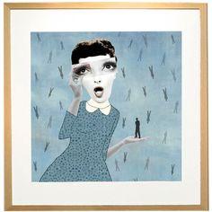 Giclee drucken es regnet Männer Collage in von RedCheeksFactory
