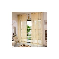2 Panel Champagne Window Screening Hollow Out Bedroom Balcony Sheer... ($29) ❤ liked on Polyvore featuring home, home decor, window treatments, curtains, white, sheer window treatments, european curtains, white lace curtains, sheer draperies and window screens