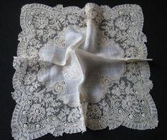 Antique Lace Handkerchieves
