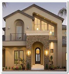 40 Stunning Modern Dream House Exterior Design Ideas - Page 19 of 41 - Afshin D. 40 Stunning Modern Dream House Exterior Design Ideas - Page 19 of 41 - Afshin Decor Dream House Exterior, Exterior House Colors, Exterior Paint, House Exterior Design, Stucco Colors, Exterior Houses, Stucco Exterior, House Front Design, Modern House Design