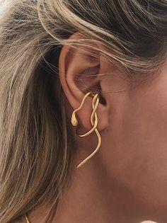 Snake ear cuffs,snake ear cuffs,snake earrings,gold ear cuffs,sterling silver e Ear Jewelry, Cute Jewelry, Snake Jewelry, Skull Jewelry, Hippie Jewelry, Kids Jewelry, Gold Jewellery, Beaded Jewelry, Women Jewelry