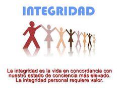 La integridad es un valor que quiero mejorar