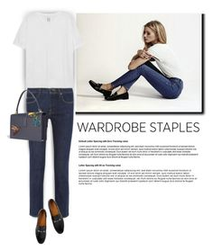 Wardrobe Staple: White T-Shirt by bliznec-anna on Polyvore featuring polyvore fashion style Zoe Karssen Gucci Victoria Beckham clothing