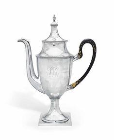 A rare American silver pot