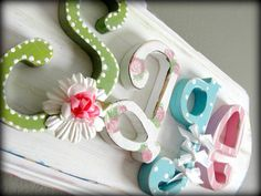 10 letter limited edition custom name sign plaque by myadornables, $180.00