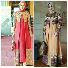 Baju Modest Fashion Hijab, Abaya Fashion, Fashion Dresses, Model Dress Batik, Batik Dress, Dress Batik Kombinasi, Batik Muslim, Moslem Fashion, Fashion Desinger