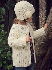 New Crochet Patterns - Laurel Cardigan & Cloche Hat