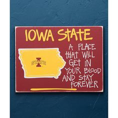 Glory Haus Iowa State Cyclones Ames Map Wall Sign ($24) ❤ liked on Polyvore featuring home, home decor, wall art, home wall decor, wall mounted signs, wall signs, map wall art and mounted wall art