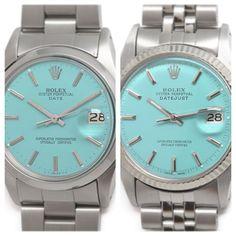 Tiffany & Co. blue Rolex.