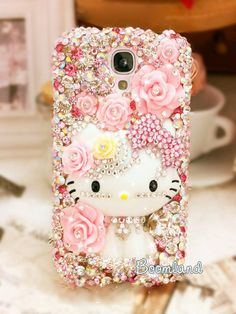 Swarovski Crystals Shimmering galaxy note 3 by iPhoneCasesStyle