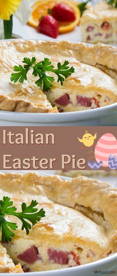 """Whether you serve this for Easter brunch or with the big meal, get ready for all. Whether you serve this for Easter brunch or with the big meal, get ready for all sorts of """"oohs"""" and """"aahs,"""" 'cause Easy Easter Recipes, Easter Dinner Recipes, Brunch Recipes, Italian Easter Cookies, Italian Easter Pie, Italian Meats, Italian Dishes, Italian Recipes, Mr Food Recipes"""