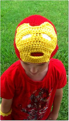 Iron Man Inspired Hat and Glove Set by yodera on Etsy, $25.00
