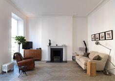 Industrial Grey Antique Oak Parquet (Harley Street, London) - contemporary - Hallway - London - Hitt Oak Ltd