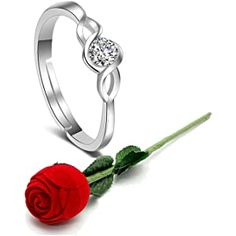 Buy Karatcart Valentine's Day Gift Hamper of Couple Ring with Red Rose Gift Box for Boyfriend/Girlfriend/Gift at Amazon.in Gifts For My Wife, Gifts For Girls, Rose Gift, Gift Hampers, Pendant Set, Metal Jewelry, Valentine Day Gifts, Red Roses, Adjustable Ring